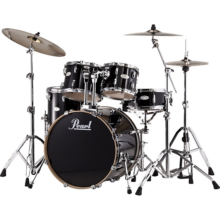 Pearl Vision Maple Lacquer Standard Shell Pack Piano Black