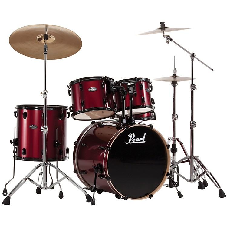 Pearl Vision VX 5 Piece New Fusion Shell Pack Red Wine