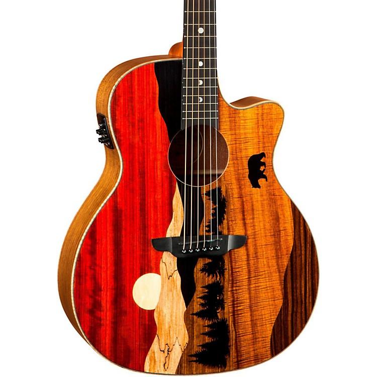 Luna GuitarsVista Bear Acoustic-Electric GuitarNatural