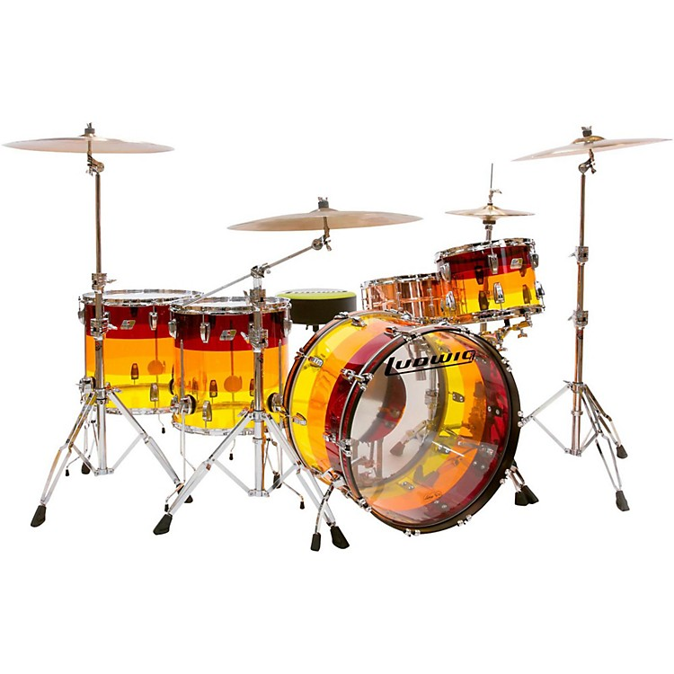 LudwigVistalite Tequila Sunrise 4-Piece Shell Pack