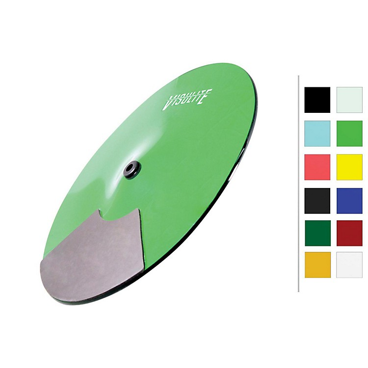 Pintech VisuLite Professional Single Zone Splash Cymbal 13 in. Fluorescent Green
