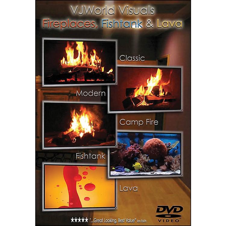 Hal LeonardVj World Visuals Fireplaces, Fishtank & Lava DVD