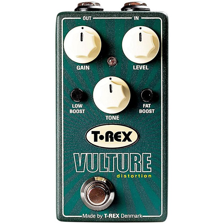 T-Rex Engineering Vulture Distortion Guitar Effects Pedal with Low and Fat Boost