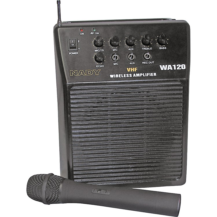 NadyWA-120 Portable PA System with Wireless Handheld MicChannel D