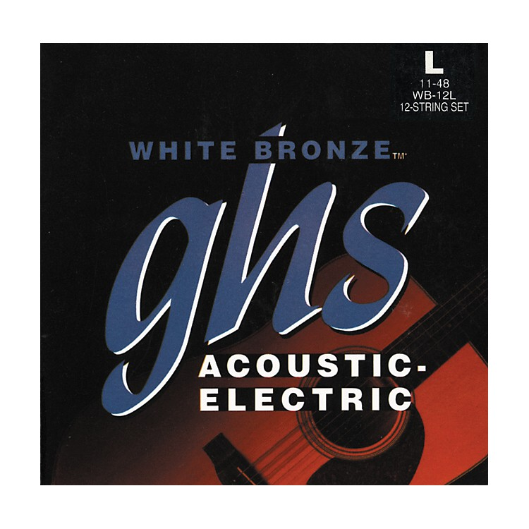 GHSWB12L White Light 12-String Acoustic-Electric Guitar Strings