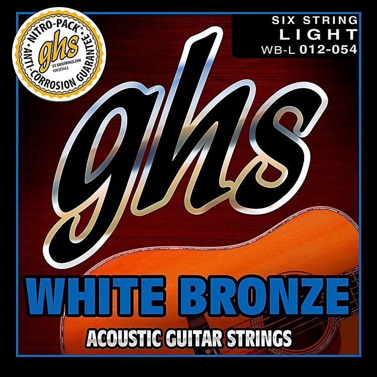 GHSWBL White Bronze Light Acoustic-Electric Guitar Strings