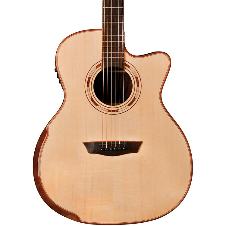 Washburn WCG25SCE Comfort Series Grand Auditorium Cutaway Acoustic-Electric Guitar Natural