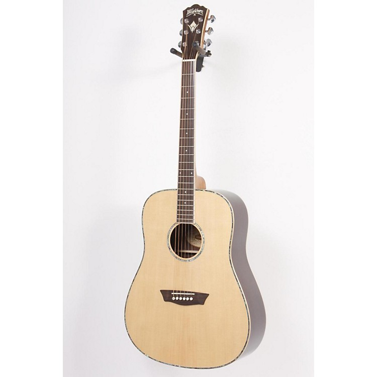 WashburnWD 25S Sitka Spruce Top Dreadnought Acoustic Guitar with Rosewood Back & SidesNatural
