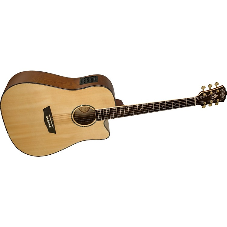 Washburn WD 35SCE Sitka Spruce Top Dreadnought Acoustic-Electric Guitar with Ash Back and Sides