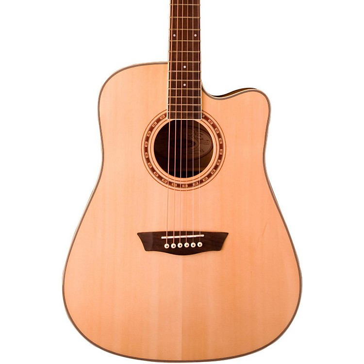 Washburn WD30SCE Solid Sitka Spruce Top Cutaway Acoustic-Electric Dreadnought Guitar