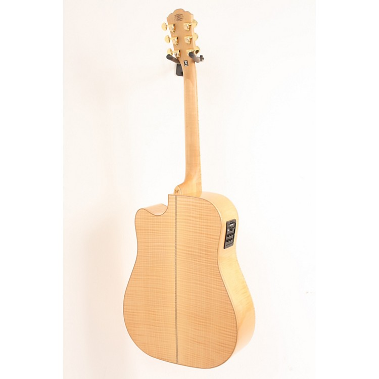 WashburnWD45SCE Solid Sitka Spruce Top Acoustic Cutaway Electric Dreadnought Flame Maple Guitar with Fishman Preamp And TunerNatural886830228698