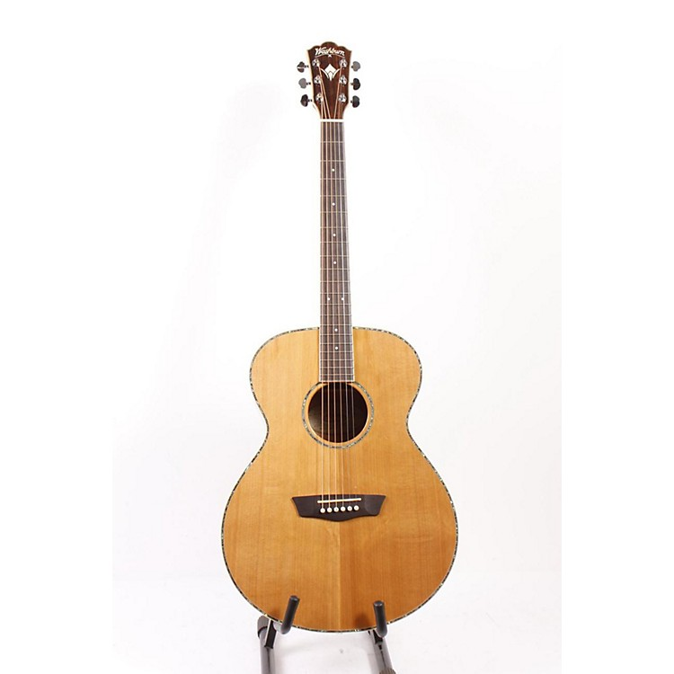 Washburn WG16S Solid Cedar Top Acoustic Grand Auditorium Mahogany Guitar Natural 886830872082