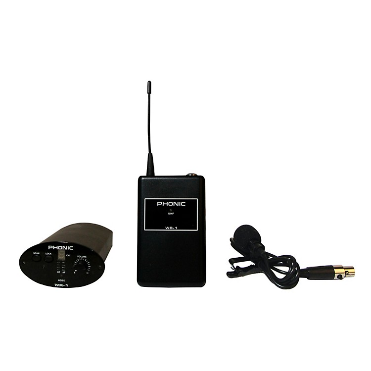 Phonic WL-1S Wireless Lavalier System (Receiver + Bodypack + Lavaliere)