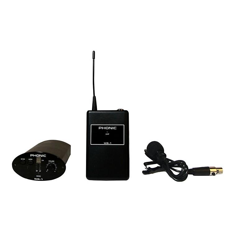 PhonicWL-1S Wireless Lavalier System (Receiver + Bodypack + Lavaliere)
