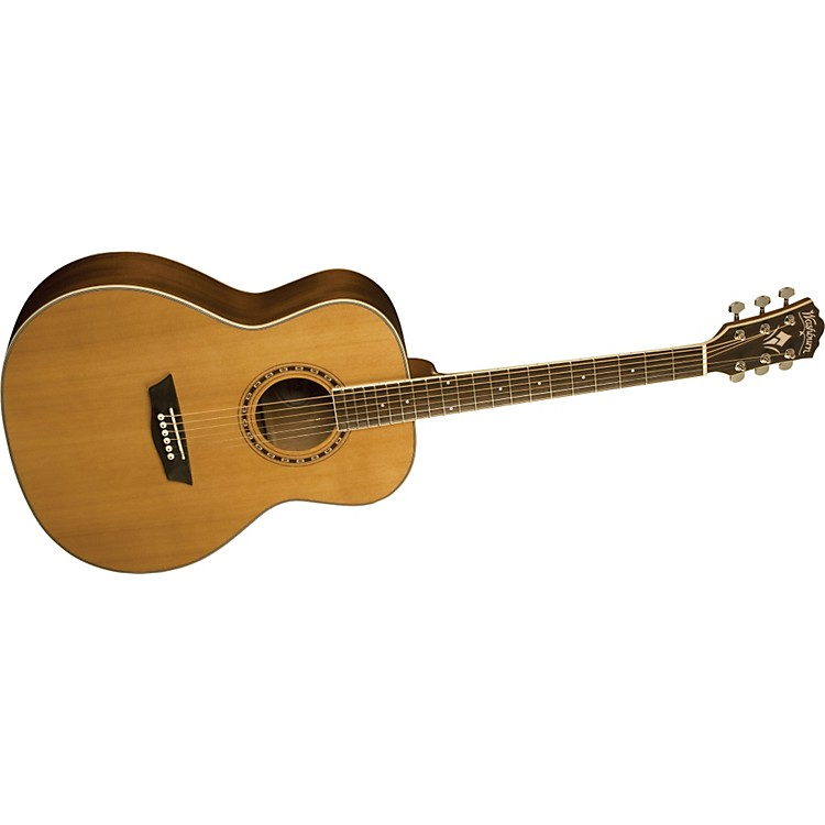 Washburn WMJ 11S Mini Jumbo Acoustic Guitar Natural