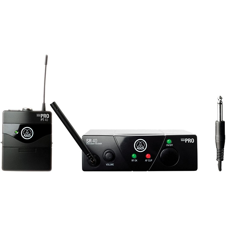AKGWMS 40 Mini Instrument Wireless System Ch C with D8000M Handheld