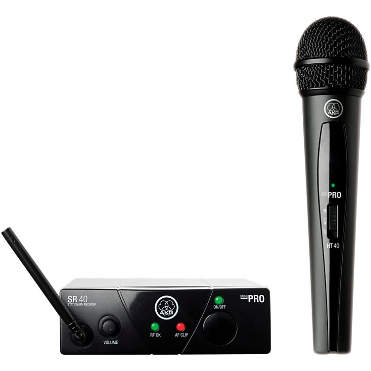 AKGWMS 40 Mini Vocal Wireless System Ch B with D8000M Handheld