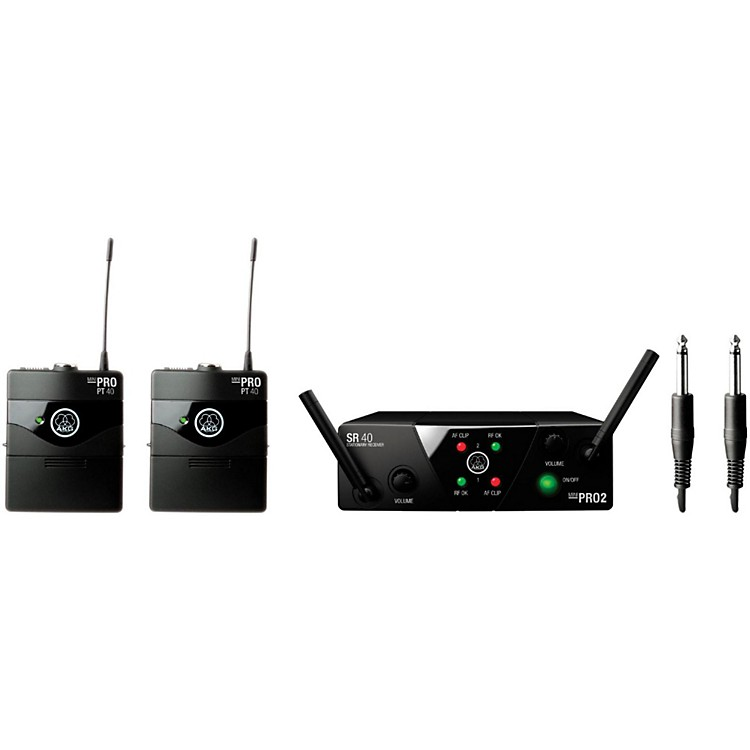 AKG WMS 40 Mini2 Instrument Wireless Microphone Set with D8000M Handheld