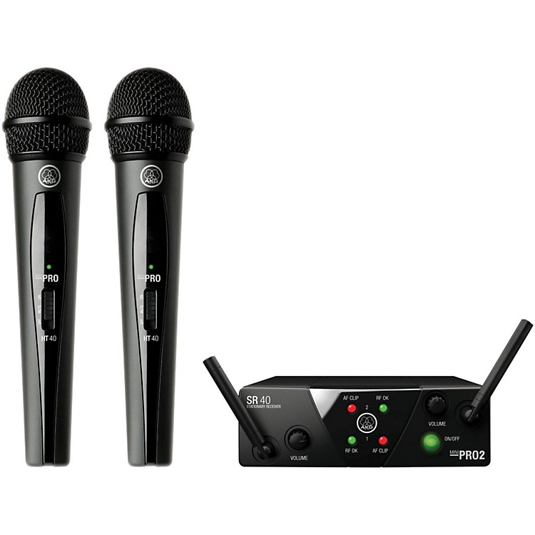 AKGWMS 40 Mini2 Vocal Wireless Microphone Set with D8000M Handheld