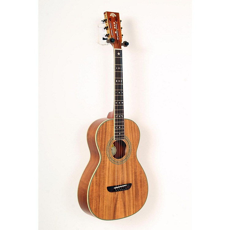 Washburn WP55 Parlor Koa Acoustic Guitar Satin Natural 888365822389