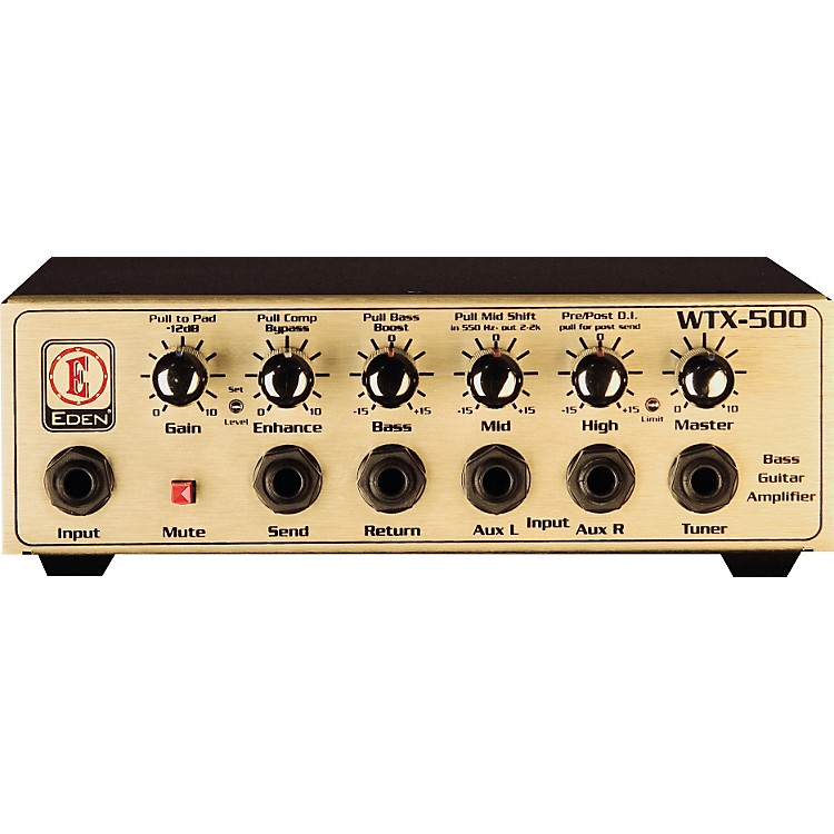 Eden WTX500 Bass Amp Head Gold