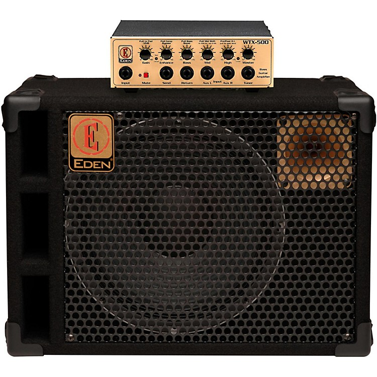 Eden WTX500 Bass Head with D112XST 1x12 Bass Speaker Cab