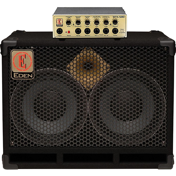 Eden WTX500 and D210XST Bass Stack Gold 4 Ohm