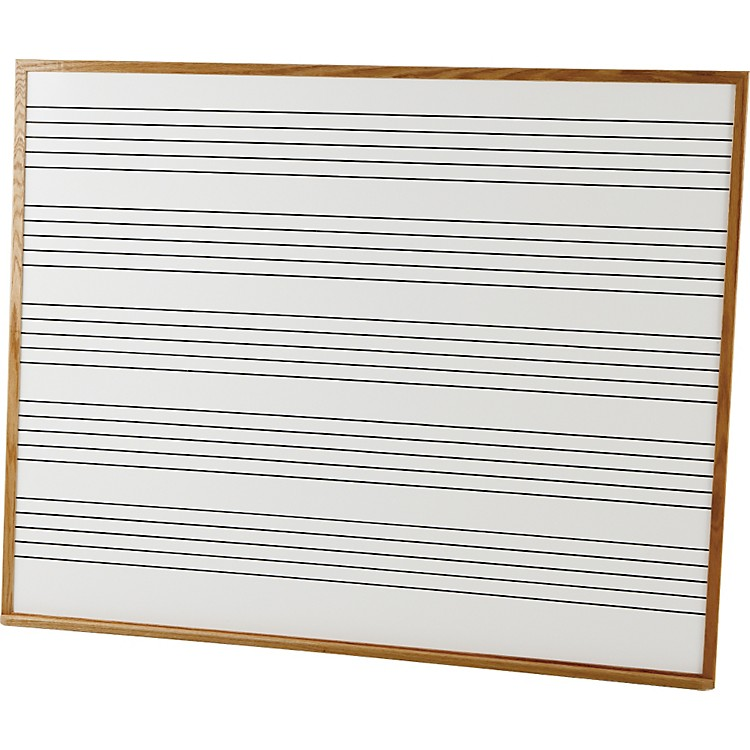 Vecchio Wall Mounted Music Staff Board 4 x 5 ft. Marker Board (5 Staves)