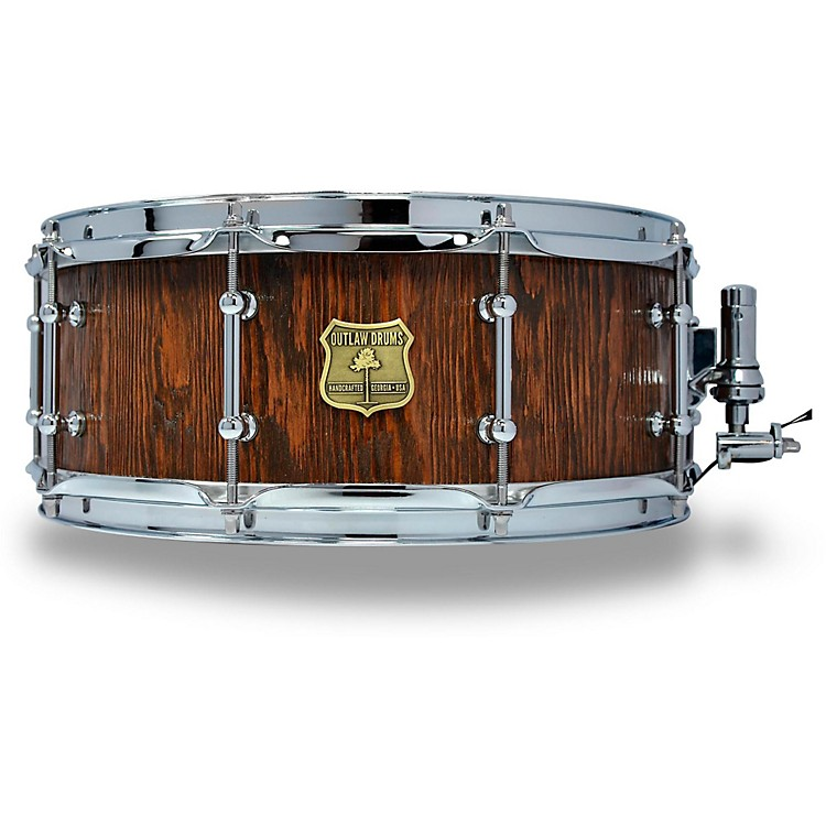 OUTLAW DRUMSWeathered Douglas Fir Stave Snare Drum with Chrome Hardware14 x 5.5 in.Tobacco Glaze