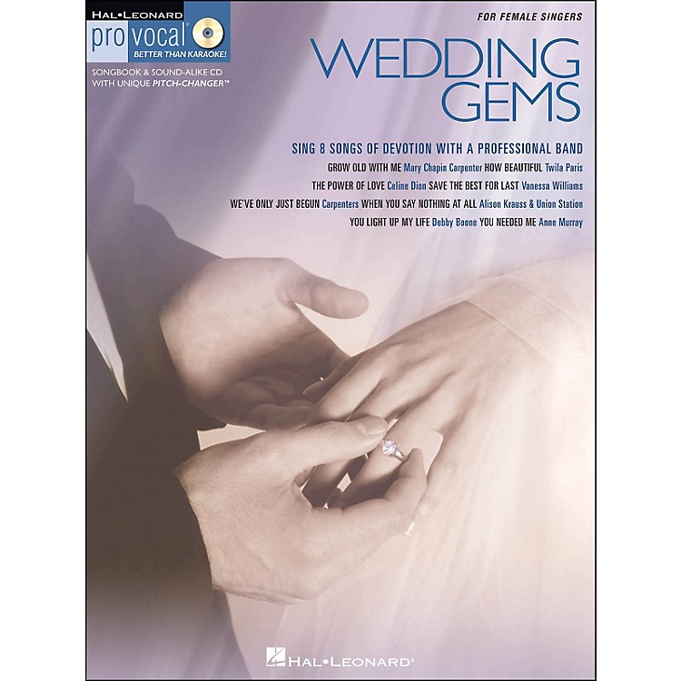 Hal Leonard Wedding Gems - Pro Vocal Series for Female Singers Book/CD Volume 8