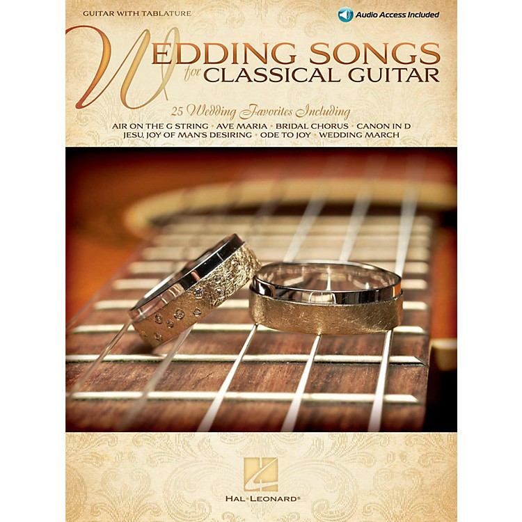 Hal Leonard Wedding Songs For Classical Guitar Book/Online Audio