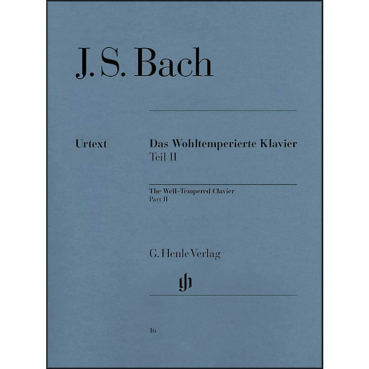 G. Henle VerlagWell-Tempered Clavier BWV 870-893 Part II By Bach