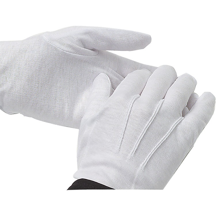 Director's Showcase White Cotton Gloves: Dozen