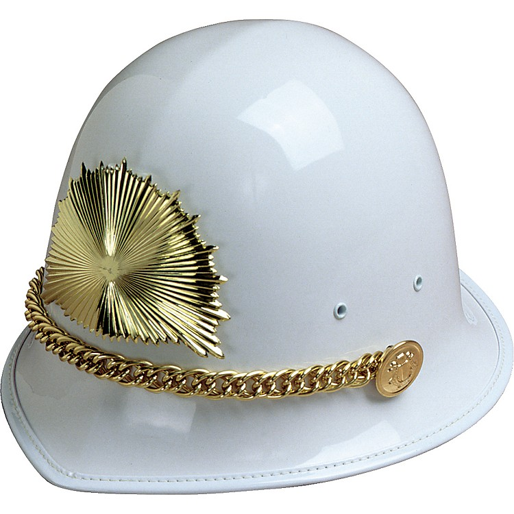 Director's Showcase White Helmet White Helmet Only, Gold Trim