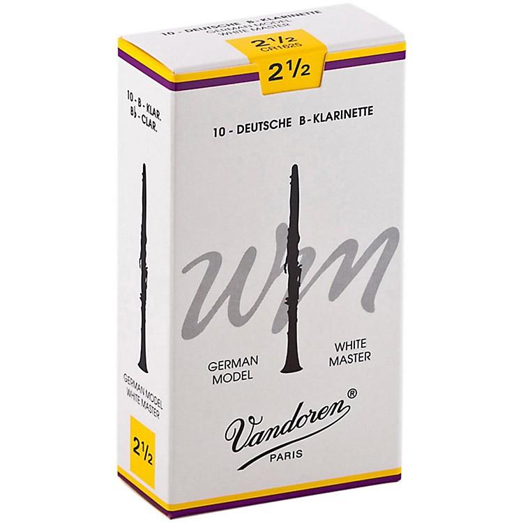 VandorenWhite Master Bb Clarinet ReedsStrength 2.5, Box of 10