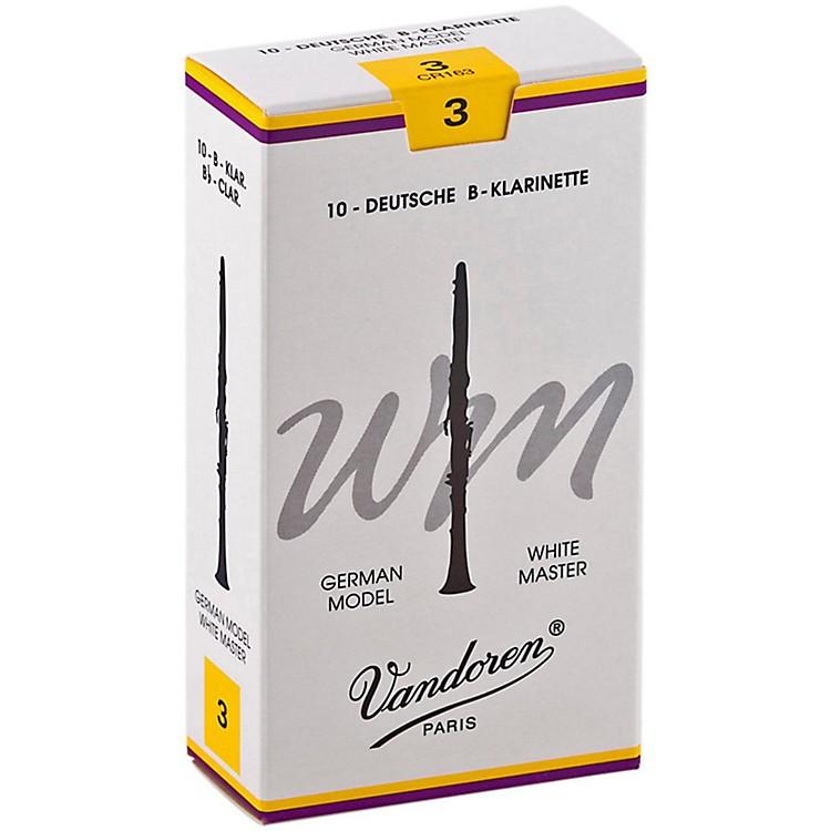 VandorenWhite Master Bb Clarinet ReedsStrength 3, Box of 10