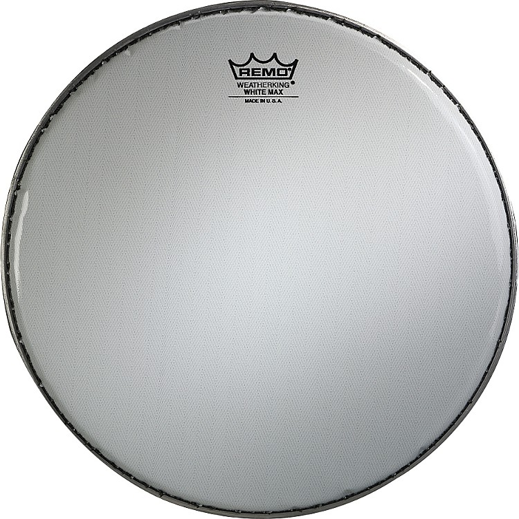 RemoWhite Max Crimped Smooth White Marching Snare Drum Head