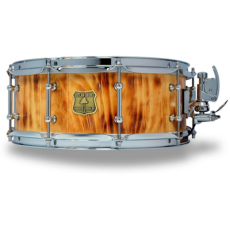 OUTLAW DRUMSWhite Pine Stave Snare Drum with Chrome Hardware14 x 5.5 in.Forest Fire