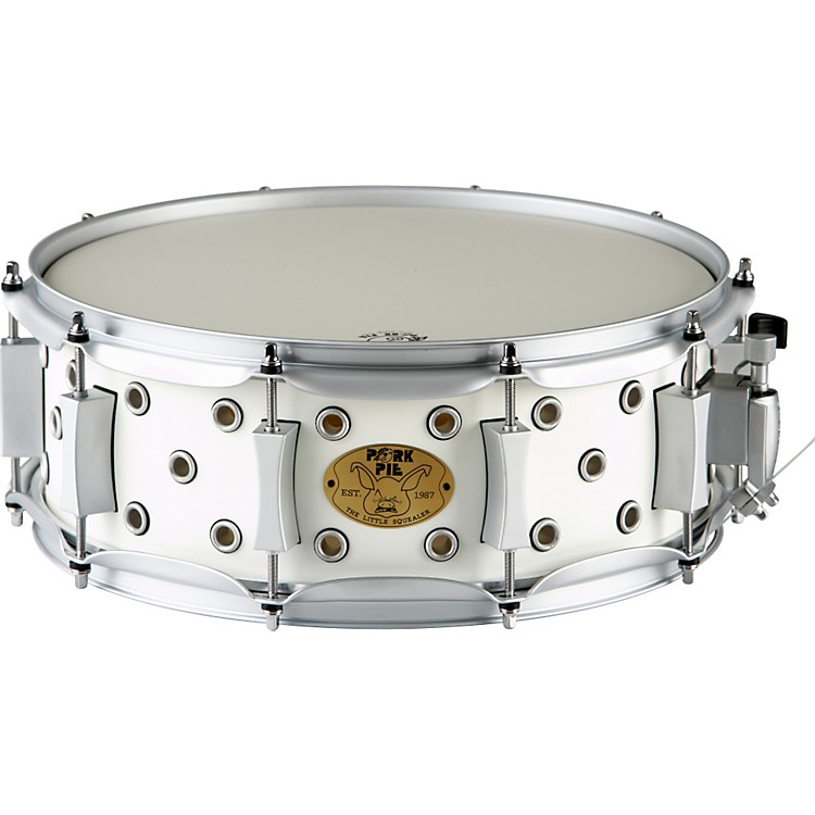 Pork Pie White Satin Little Squealer Snare Drum 5x14