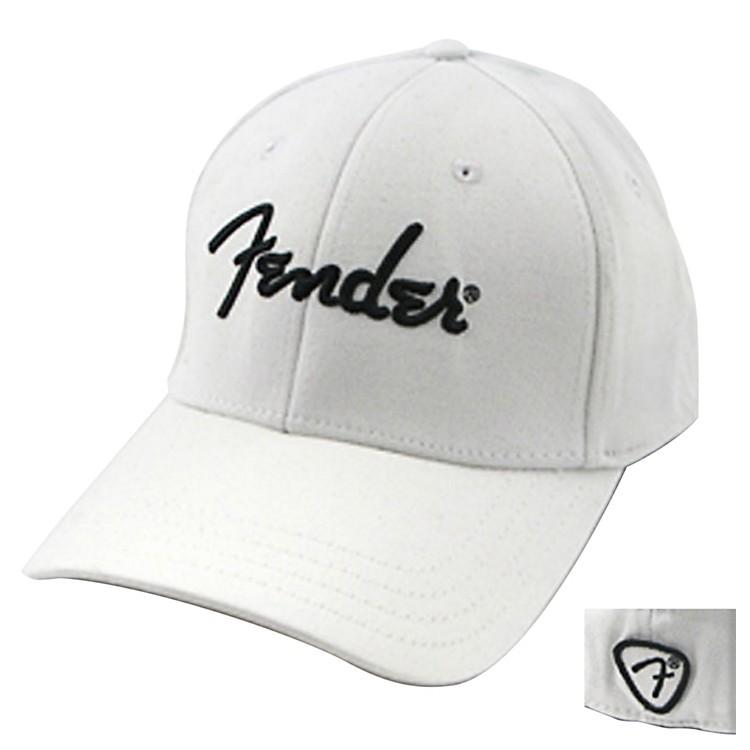 FenderWhite Script Logo Stretch Cap