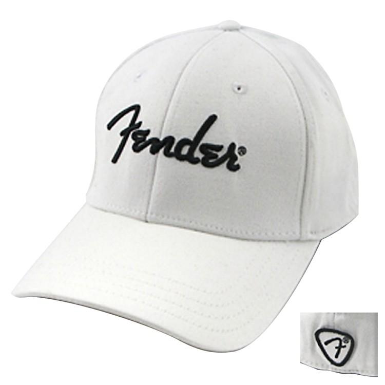 FenderWhite Script Logo Stretch CapWhiteS/M