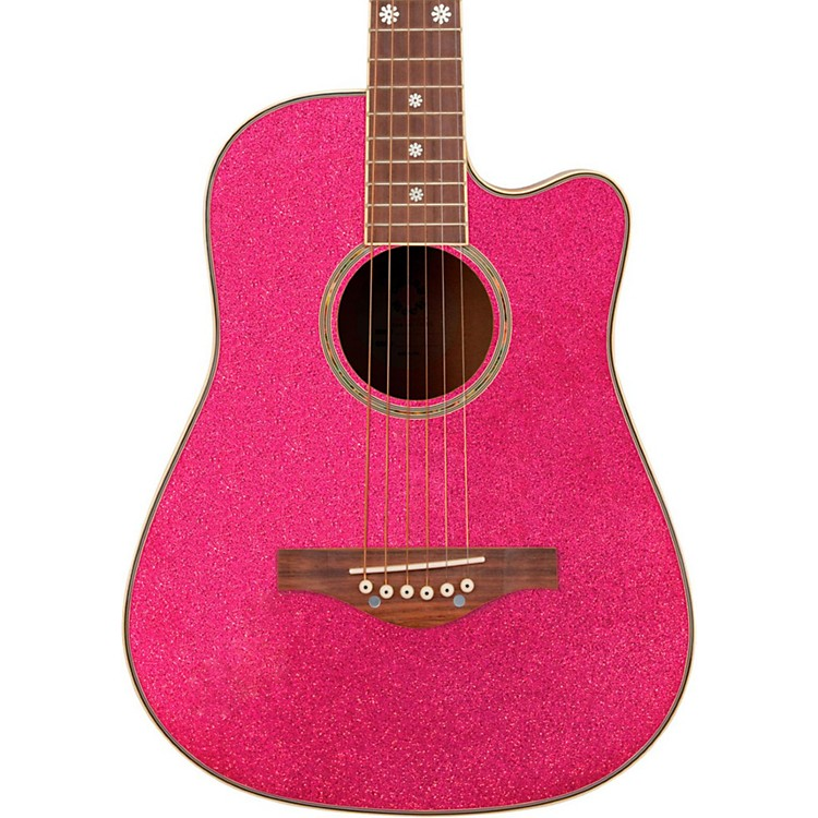 Daisy Rock Wildwood Short Scale Acoustic Guitar Atomic Pink