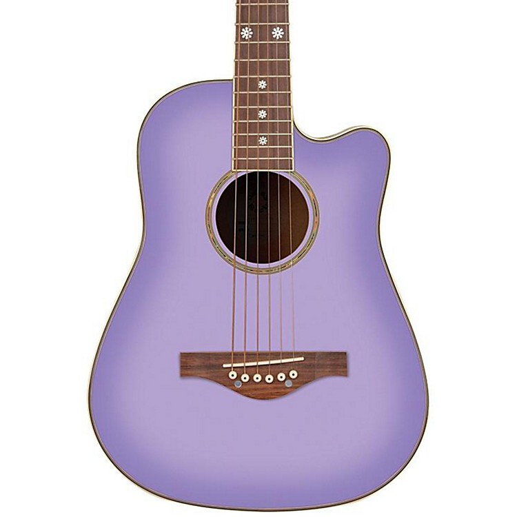 Daisy Rock Wildwood Spruce Top Cutaway Acoustic Guitar Purple Daze