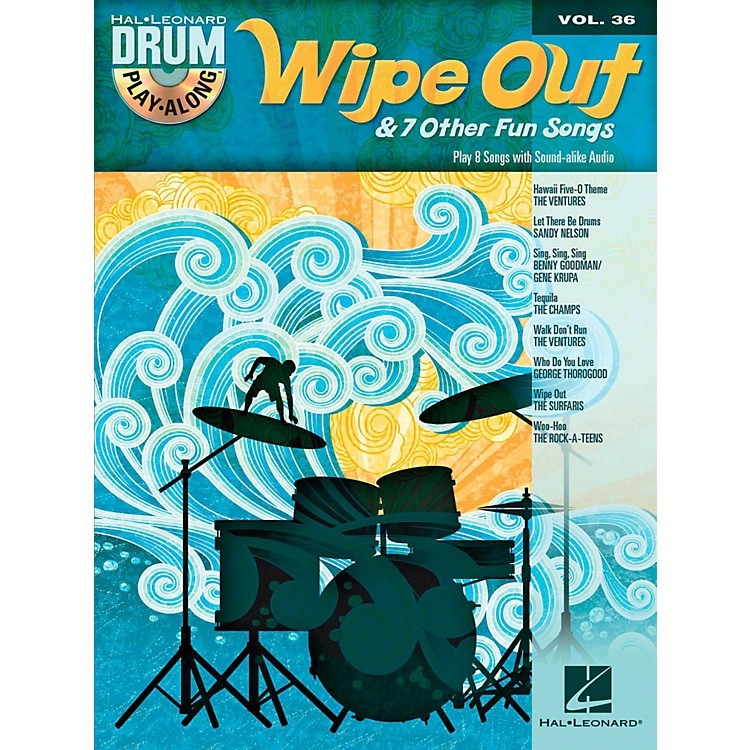 Hal LeonardWipe Out & 7 Other Fun Songs - Drum Play-Along Volume 36 (Book/CD)