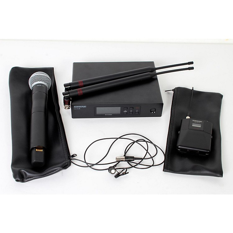 ShureWireless Bodypack and Vocal Combo System with WL185 and SM58Band J50888365820507