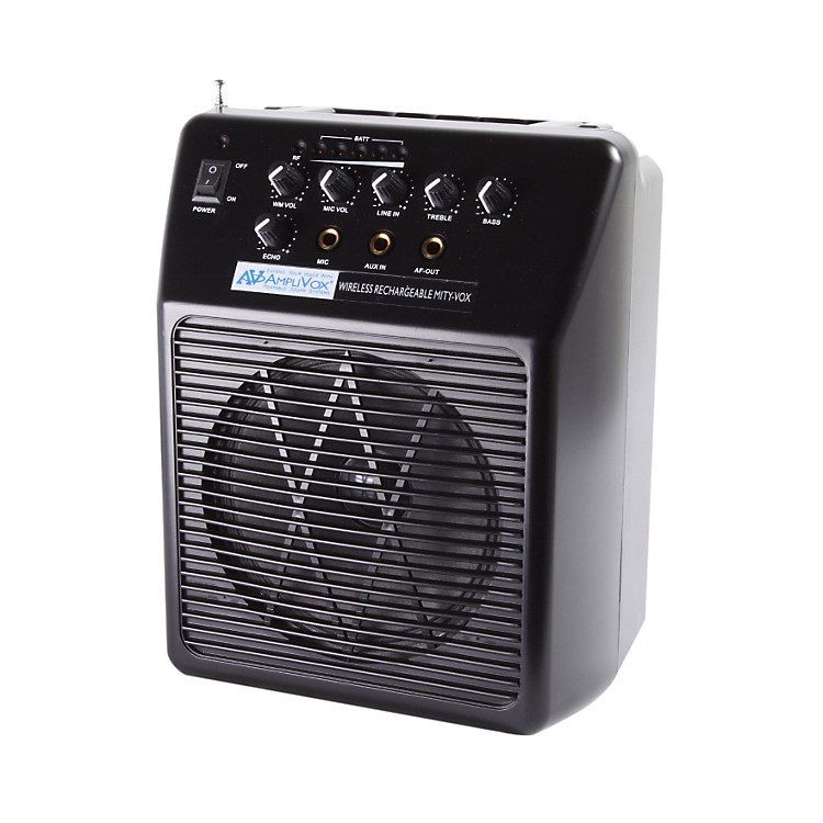 Amplivox Wireless Rechargeable Mity-Vox PA System Black