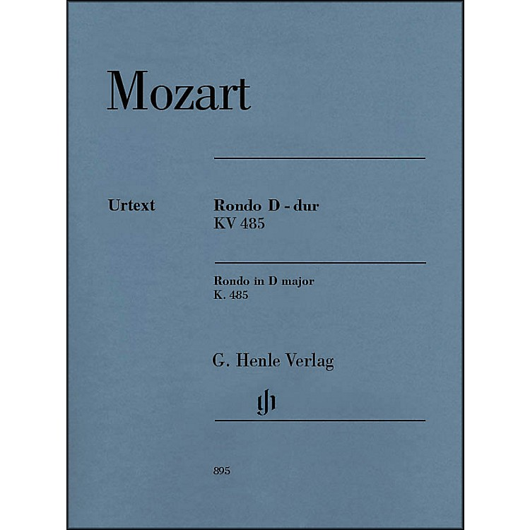 G. Henle VerlagWolfgang Amadeus Mozart - Rondo in D Major K. 485