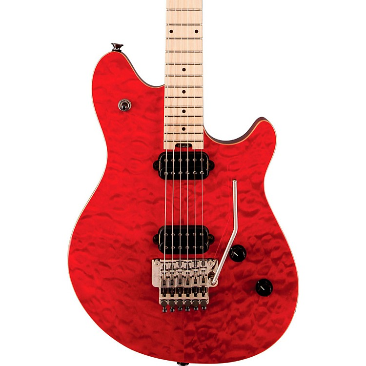EVH Wolfgang Standard Electric Guitar Transparent Red Maple Fretboard