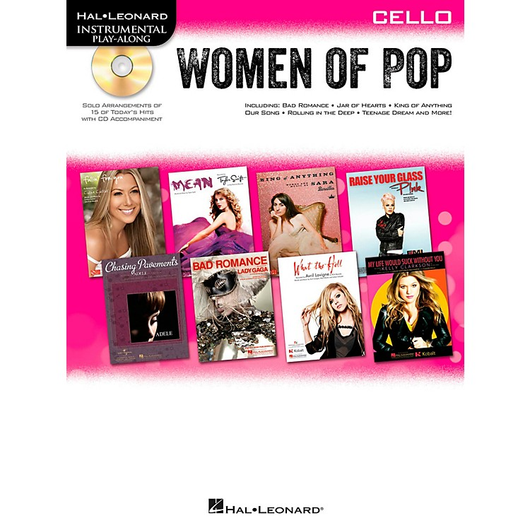 Hal LeonardWomen Of Pop For Cello - Instrumental Play-Along Book/CD