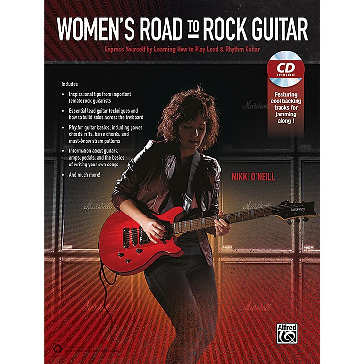 Alfred Women's Road to Rock Guitar Book & CD